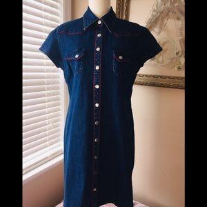 Carolina Blues Denim Shirt Dress